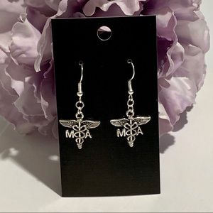 MA Medical Assistant Caduceus Earrings